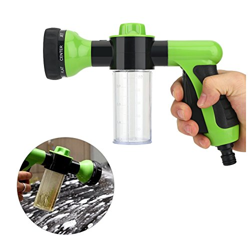 Hogedrukspuit Carwash Schuim Waterpistool Reinigingsgereedschap Pakking 6 m slanguiteindesproeier met proportionele aanpassing Schuimsproeier, geschikt voor auto-huisreiniging (Groen)
