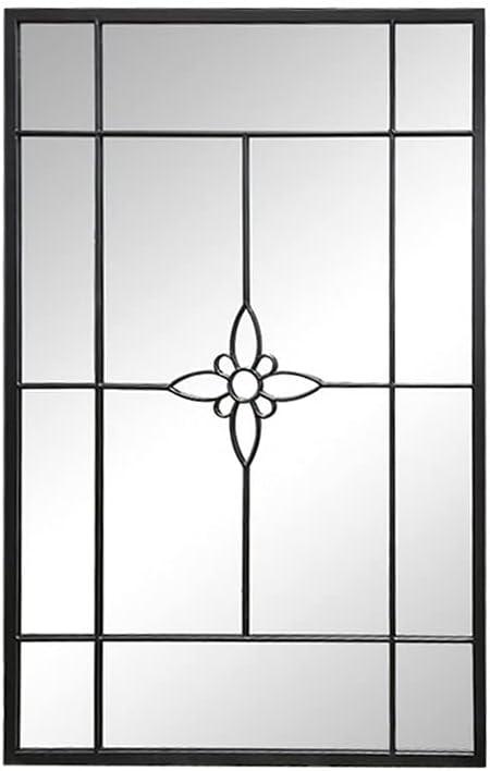 Window Wall Mirror Metal Black マーケティング 80 x3 W D 即納最大半額