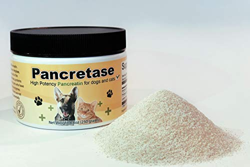 CK Formulations | Pancretase Digestive Enzymes | 10x Pancreatin | Pancreatin for Dogs and Cats | Pancreatic Enzyme | Great for Pets with EPI