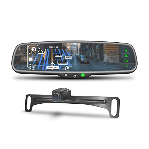 iMirror JM-1 Car Rear View Mirror Monitor with GPS Navigation, IGO Map, Bluetooth Handsfree and Backup Camera Display Touch Screen