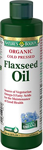 Nature's Bounty Organic Cold Pressed Flaxseed Oil, Helps Maintain Good Health, 8 Fl oz