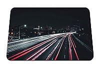 26cmx21cm マウスパッド (夜の街路灯) パターンカスタムの マウスパッド