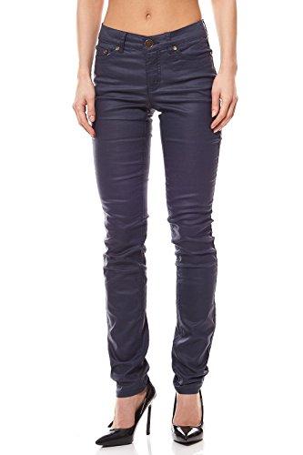 AJC Hose Röhrenjeans Damen SkinnyJeans Denim Blau, Größenauswahl:32