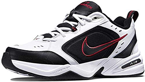 Nike Men's Air Monarch IV Cross Trainer, White/Black, 10.5 4E US