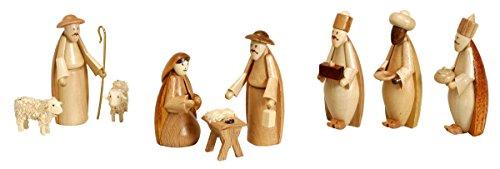 Rudolphs Schatzkiste Weihnachtsdekoration Krippenfiguren Natur Höhe 5,5cm NEU Weihnachten Christi Geburt Holz Seiffen Erzgebirge Holzdekoration Holzkunst Dekoration Figuren