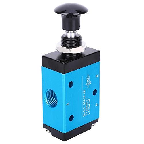 Válvula de aire, válvula manual de dos posiciones y tres vías Componentes neumáticos de 1/4 pulgada Piezas de maquinaria 3R210-08 0-60 ℃