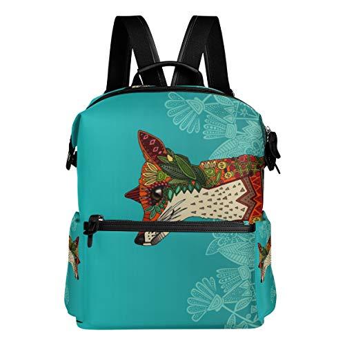 Ice Floral Fox - Bolsa de viaje para bolso de mano de pañuelos de té, bolso de viaje para adolescentes, bolso de día casual, mochila para hombres y mujeres