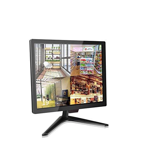 19 Pollici CCTV Monitor, Cocar BNC Monitor per Home Security Telecamera Videosorveglianza PC STB, 1024x768 Schermo con Altoparlante Incorporato 10 * 10 Vesa Parete Montaggio, BNC/VGA/HDMI/Audio