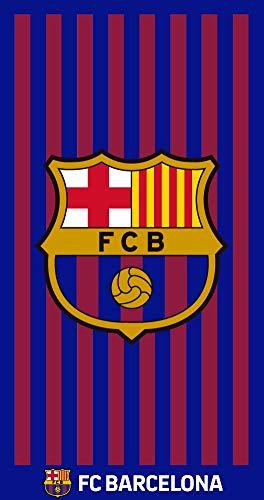 TEXTIL TARRAGO Toalla de Playa Futbol Club Barcelona Barça FCB 70x140 cm 100% Algodon Licencia oficia FCB FCBTP3