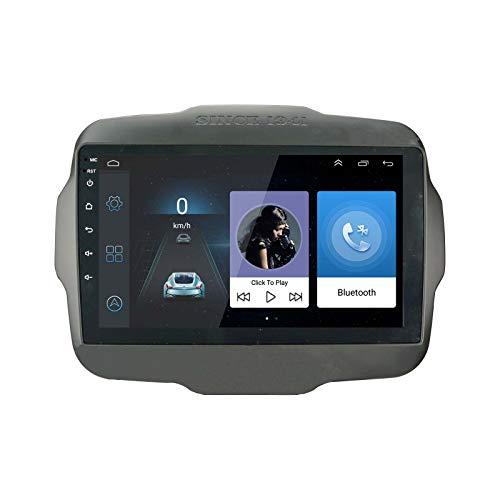 LEXXSON Autoradio Android 8.1 per Jeep Renegade 2015-2017 | Touch screen da 9 pollici AM FM Radio Navigazione GPS WIFI Bluetooth Lettore USB Controllo del volante Collegamento dello specchio