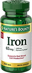 Iron is a necessary component of hemoglobin, the oxygen carrier in the blood* Iron supports energy utilization and normal red blood cell production* This product is not intended to diagnose, treat, cure or prevent any disease Ingredients: Dried Ferro...