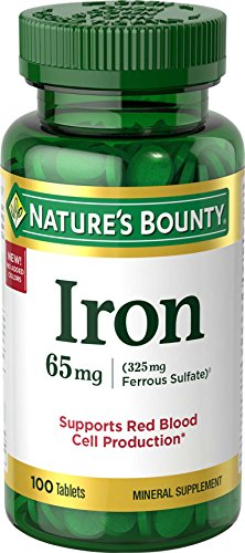 Nature's Bounty Iron 65 Mg.(325 mg Ferrous Sulfate), 100 Tablets