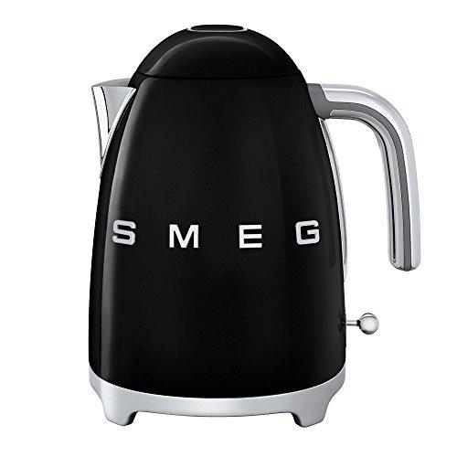 Smeg SMEG KLF03 Wasserkocher 1,7l, schwarz lackiert BxHxT 22,3x24,8x17,1cm integriertes Heizelement Soft-Opening