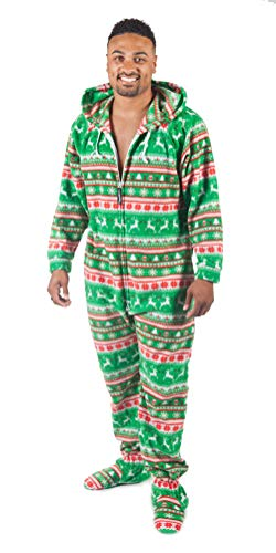 Forever Lazy Footed Adult Onesie - Reindeer Games - S