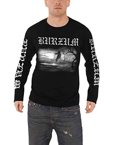 Burzum T Shirt Aske 2013 Band Logo Nue offiziell Herren Schwarz Long Sleeve