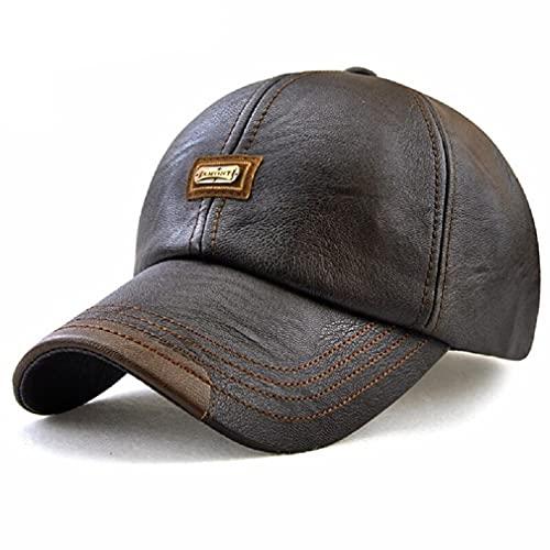 Boné nova moda de alta qualidade do falso boné de couro outono inverno chapéu casual snapback boné de beisebol para homens feminino chapéu atacado ElaShopp (2)