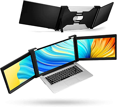 Moniteur Externe Portable Triple écran Eyoyo pour Ordinateur Portable avec Moniteur USB C Compatible avec 13-17 Mac PC HD 1080P IPS Double écran (13,3 Pouces)