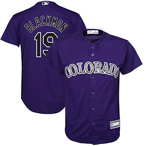 Outerstuff Charlie Blackmon Colorado Rockies MLB Boys Youth 8-20 Player Jersey (Purple Alternate, Youth X-Large 18-20)