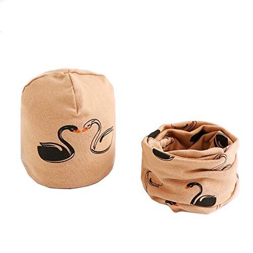 Baby Schirmmütze Set Cartoon Baby Kopfbedeckung Frühling Warme Kragen Kinder Baumwolle Kinder Hut Schal - C3 X 4-6 olds