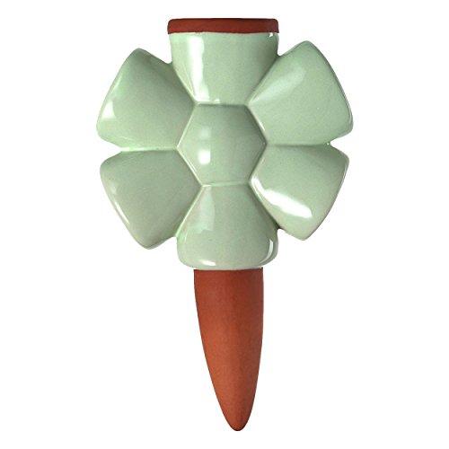 Leonardo - Wasserspender, Wasserreservoire - Blume - grün - Keramik - Höhe 18 cm