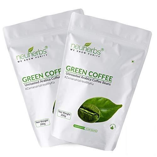 Neuherbs Green Coffee Beans, 200 Gm: Pack Of 2