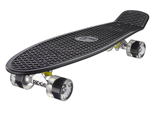 Ridge Skateboard Big Brother Nickel 69 cm Mini Cruiser, schwarz /klar