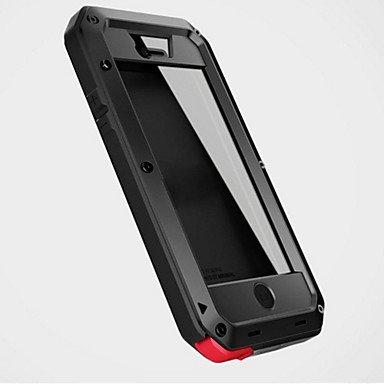 Cases/Fondina Custodia per cellulare e custodie, in alluminio Gorilla Glass Metallo Impermeabile Antiurto Cover Case (Colore : Nero Modelli compatibili: iPhone 8)