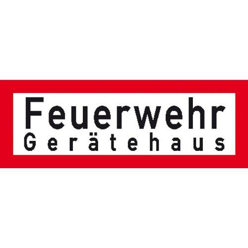 Hinweisschild Brandschutz Feuerwehr Gerätehaus, selbstkl. Folie ,29,70x10,50cm