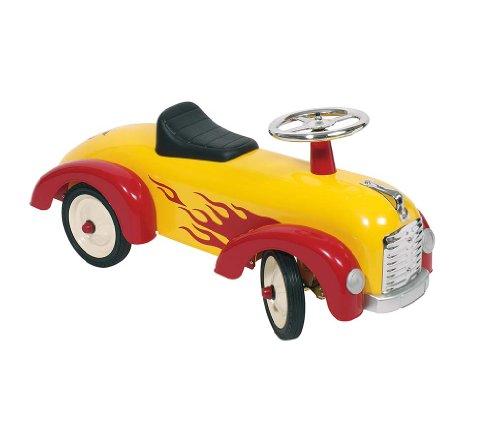 Goki 14072 - Rutscherfahrzeug mit aufgedruckten Flammen