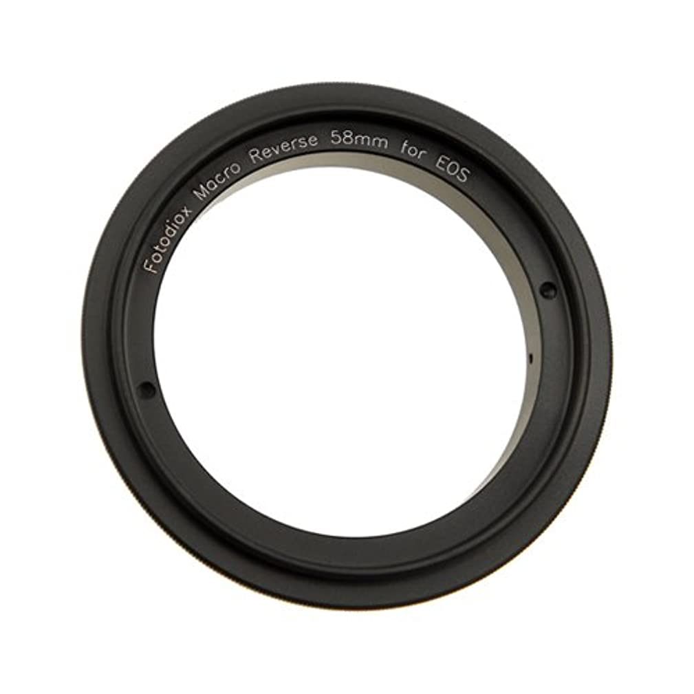 Fotodiox 58mm Macro Reverse Adapter for Mounting Lenses with 58mm Filter Threads on Canon EOS EF/EF-s Cameras