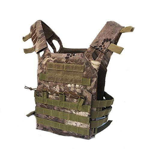 Portador Táctico Militar Cofre Rig Chaleco Airsoft Deportes Paintball Gear Body Armor For Equipo De Caza Waistcoat (Color : Desert)