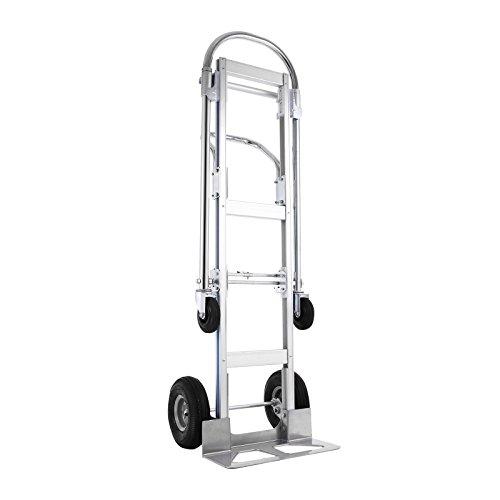 Mophorn Sackkarre Treppenrutsche 400KG Aluminium Transportkarre Stapelkarre Handkarre Karre 2-In-1 Handkarren Faltbar (400kg)
