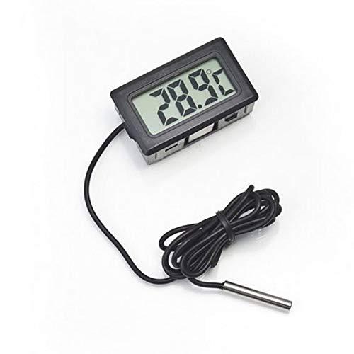 Professionele draagbare elektronische LCD-scherm digitale thermometer voor koelkast/vriezer/aquarium/FISH TANK temperatuur (zwart) Jasnyfall