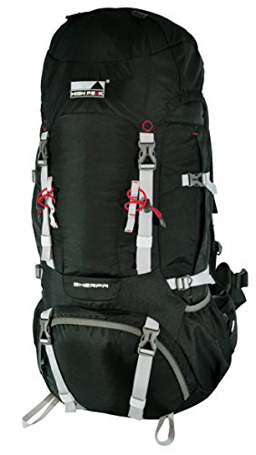 High Peak Sherpa Sac à dos de trekking Noir 65 + 10 L