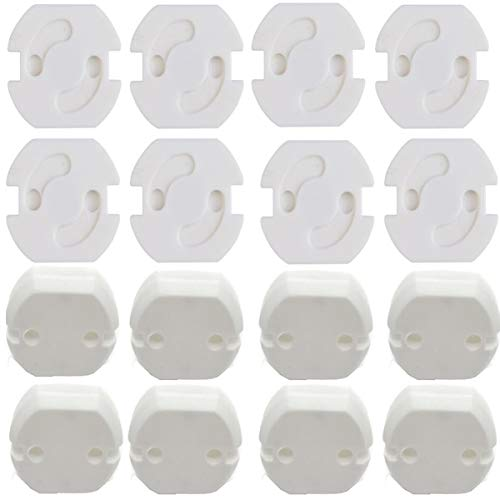 Biluer 40CPS Copripresa per Bambini Copripresa Elettrica Plug Protector Cover Bianco Copri Presa Elettrica Per La Sicurezza Dei Bambini Casa e Scuola