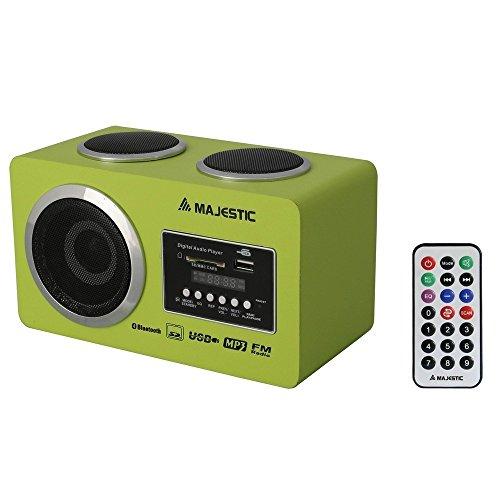 NEW MAJESTIC BT-273 RADIO 2W USB/SD/AUX BT C/TELECOMANDO VERDE