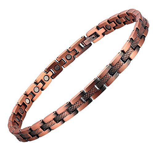 Magnetic Therapy Copper Ankle Bracelet for Women Arthritis Pain Relief