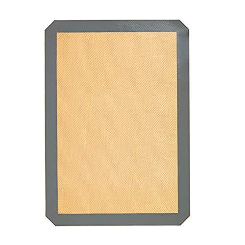 Kaxofang 1 Pieza Almohadilla para Hornear De Silicona Verde Reutilizable Scones De Silicona Antiadherente Estera Enrollable De La Masa Toast Gray 30 x 20 Cm