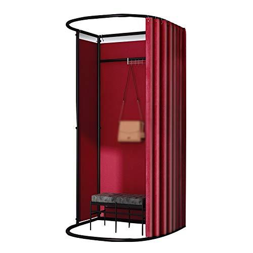 BAIYING Tienda De Ropa Sala De Montaje, Marco En U con Percha Removible Gran Espacio Interior Y Exterior Intimidad Probador, 8 Colores (Color : Red, Size : 85X80X200CM)