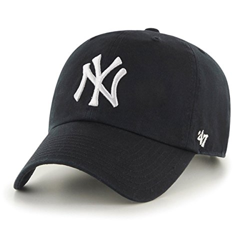 '47 York Yankees Adjustable Cap Clean Up MLB Black/White - One-Size