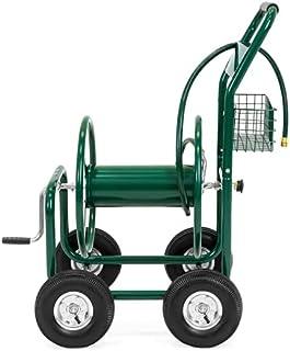 PRO-CARTS Hose Cart Hose Trolley Garden Hose Reel Cart 4 Wheel Hose Wagon Heavy Duty Yard Water Planting Lawn Watering