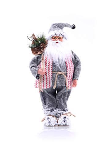 DecoKing 46296 Weihnachtsmann 46 cm Nikolaus Weihnachtsfigur Weihnachtsdeko Weihnachtsschmuck Weihnachten Kazrik