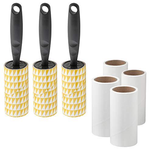 IKEA BASTIS 3er Set Fusselrollen grau mit 4 Nachfüllrollen