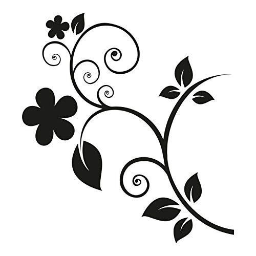 kleb-Drauf | Blumenranke | Verschiedene Größen und Farben | Autoaufkleber Autosticker Decal Aufkleber Sticker | Auto Car Motorrad Fahrrad Roller Bike | Deko Tuning Stickerbomb Styling Wrapping