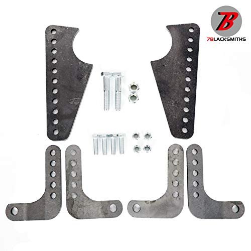 """Adjustable Coil Over Shock Mount Kit Lower Rear Brackets For 3"""" Axle Tubes Steel"""
