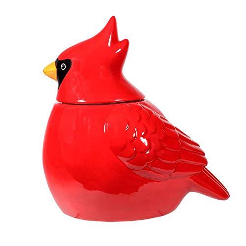 DEI 81089 - Tarro de cerámica para galletas (20,3 x 14 x 20,3 cm), color rojo