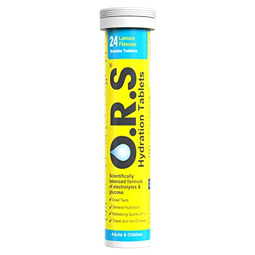 O.R.S Hydration Tablets with Electrolytes, Vegan, Gluten and Lactose Free Formula - Natural Lemon Flavour, 24 Tablets, 5060135050085