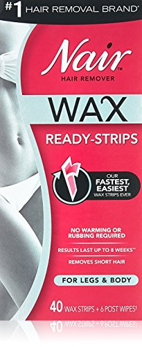 Nair Hair Remover Wax Ready-Strips 40 Count Legs/Body (2 Pack)