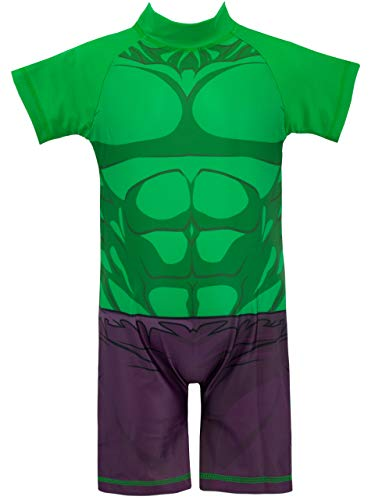 Marvel Der unglaubliche Hulk BrandungAnzug aus Polyester für Jungen 3-4 Jahre Grün