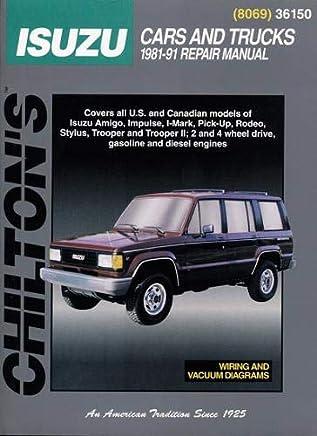 isuzu cars and trucks 1981 91 (chilton's total car care black isuzu impulse wiring diagram 1991 isuzu impulse #7